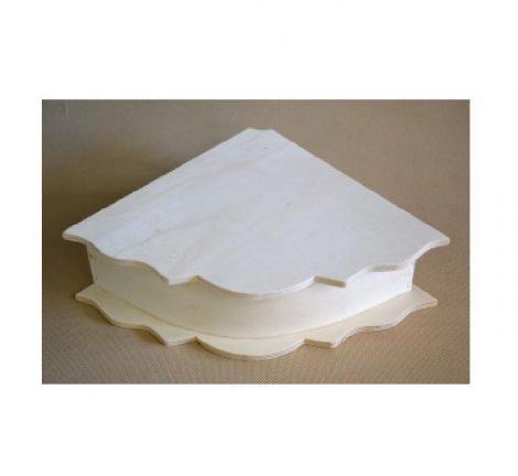 Fa doboz sarok forma kb. 29*21 cm
