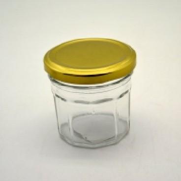 Csavaros üveg sokszögletű 90 ml (kb. 65*67 mm)