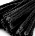 Zsenília szál 6 mm*30 cm - fekete