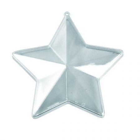 Átlátszó műanyag csillag 10 cm