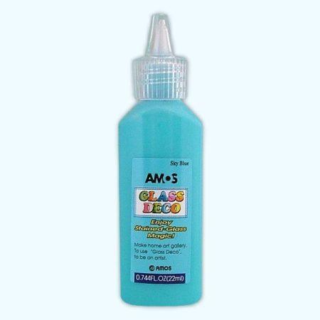Amos üvegmatrica festék 22 ml - világoskék