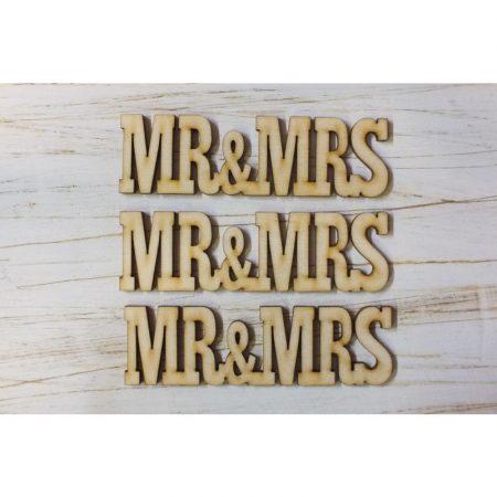 Fa felirat - MR&MRS kb. 30*155*3 mm
