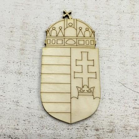 Fa figura - magyar címer kb. 95*45 mm