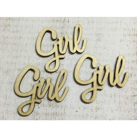 Fa felirat - Girl kb. 75*80*3 mm