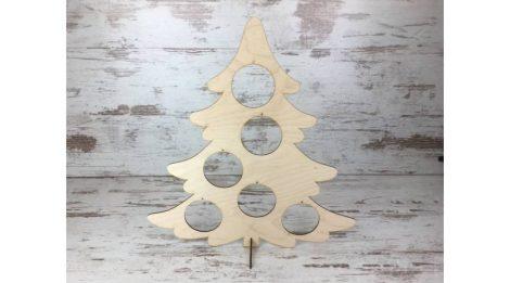 Fa figura - gömbtartó fenyőfa 48 cm