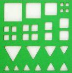 Quilling alap négyzet és háromszög 12*12 cm