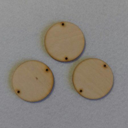 Fa alap - kör két lyukkal kb. 4 cm
