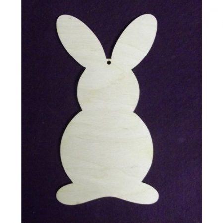 Fa nyuszi álló fülű kb. 90*50*3 mm