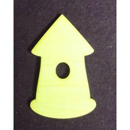 Fa alap - házikó kb. 33*50*3 mm