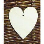 Fa alap - szív kb. 120*150*3 cmm