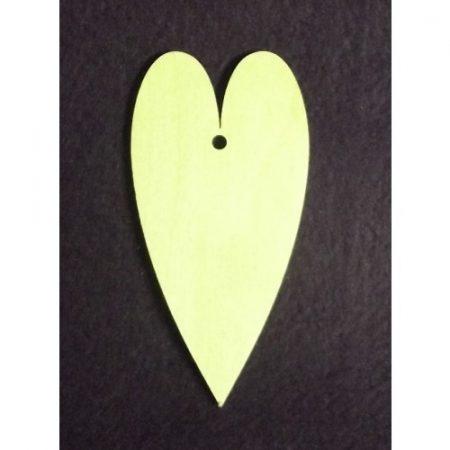 Fa alap - szív egy lyukkal kb. 50*100*3 mm
