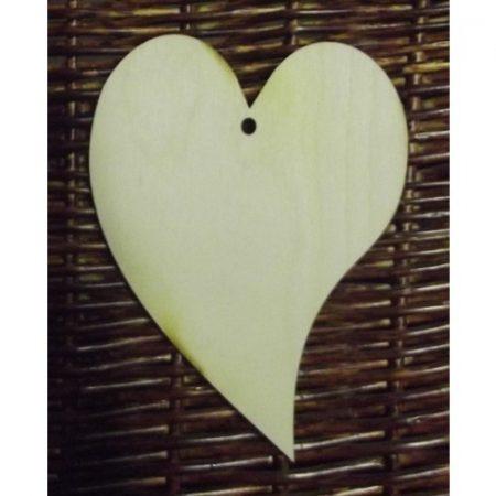 Fa alap - szív kb. 45*50*3 mm