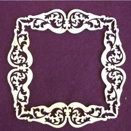 Fa keret - négyzet kb. 150*150*3 mm
