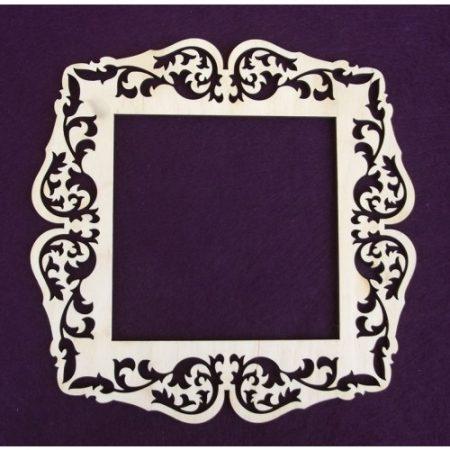 Fa keret - négyzet kb. 180*180*3 mm