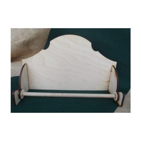 Fa papírtörlő tartó fekvő - kb. 33*20*10,5*6 mm