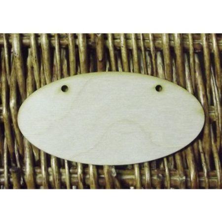 Fa alap - ovális két lyukkal (kb. 120*60*3 mm)L30003