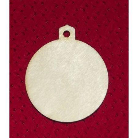 Fa alap - karácsonyfa dísz gömb- kb. 50*56*3 mm