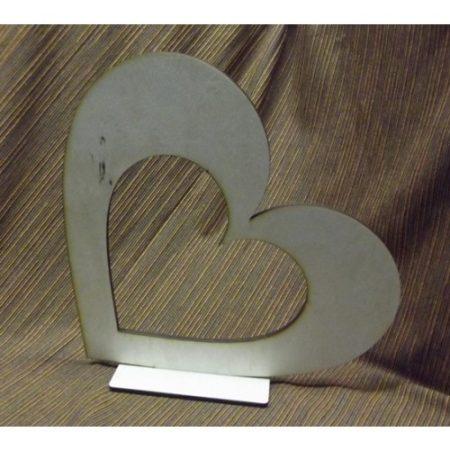 Fa álló szív lyukkal kb. 300*300*6 mm