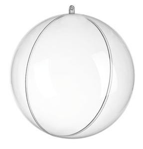 Átlátszó műanyag gömb - 12 cm