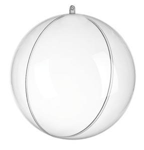 Átlátszó műanyag gömb - 8 cm