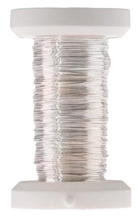 Ezüstözött rézdrót - 0, 25 mm*100 m