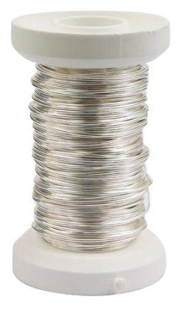 Ezüstözött rézdrót - 0,6 mm*18 m