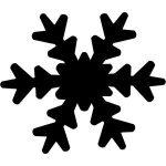 Mintalyukasztó 25 mm - Hópehely 1. 20855