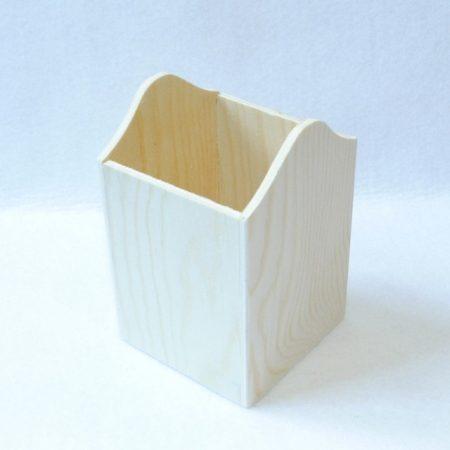 Ceruzatartó négyzet alapú 8*8*12,5 cm