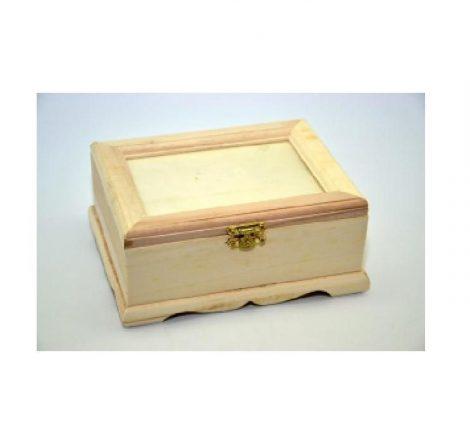 Fa doboz fotós fedelű (16*12*7 cm)5895