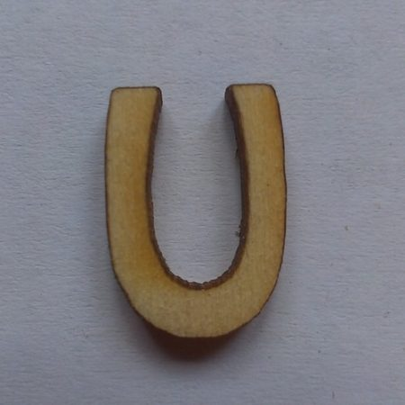 Fa betűk 1,5-2 cm U