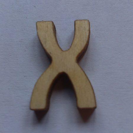 Fa betűk 1,5-2 cm X