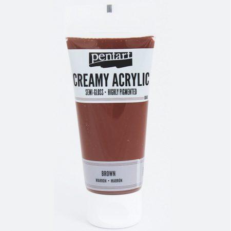 Krémes akrilfesték selyemfényű 60 ml - barna