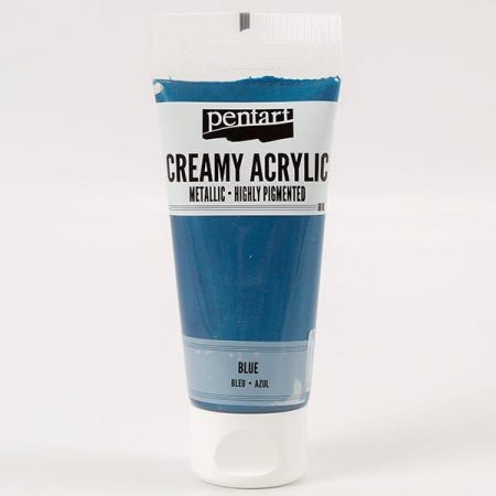 Krémes akrilfesték selyemfényű 60 ml - kék