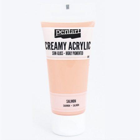 Krémes akrilfesték selyemfényű 60 ml - lazac