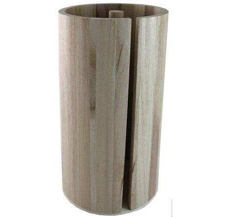 Fa papírtörlő tartó kerek - 25*13,5 cm