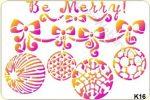 Sablon Karácsonyi gömbök K16 1mm*200mm*145mm