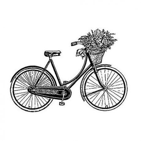 Pecsét - Bicikli - kb. 10,5*6,5 cm
