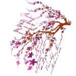 Sablon - Ágak írással KSG365 (kb. 21*29,7 cm)