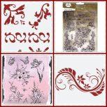 Sablonok, bélyegzők, tintapárnák